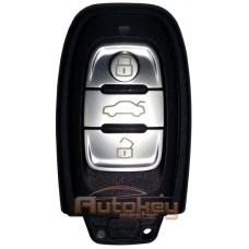 Смарт ключ Ауди A4, A5, A6, A7, A8, Q5 (Audi A4, A5, A6, A7, A8, Q5) | 2008-2018 | 8K0959754A | PCF 7945AC | Keyless GO | 433MHz Европа | 3 кнопки | Оригинал