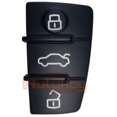 Кнопки резиновые выкидного ключа Ауди А1, A3, A4 и др. модели (Audi A1, A3, A4 etc.) | 2004-2020