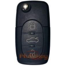 Выкидной ключ для Ауди А3,A6,А8,ТТ (Audi A3,A6,A8,TT ) HU66 | ID 48 | 434MHz | 1998-2002 | 3 кнопки | 4D0 837 231 A | Оригинал