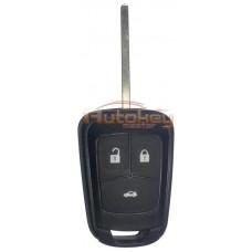 Ключ для Шевролет Круз, Кобальт, Авео (Chevrolet Cruze, Cobalt, Aveo) HU100 | PCF7937E | 433MHz | 3 кнопки | Оригинал