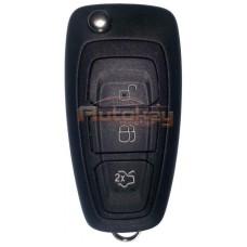 Выкидной ключ для Форд Фокус 3, Мондео 4, С-МАХ (Ford Focus 3, Mondeo 4, C-MAX) | HU101 | 4D63x80 | 433MHz | 3 кнопки | Оригинал