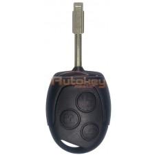 Ключ для Форд Мондео, Фокус, С-Макс, Ц-Макс, Фиеста, Галакси (Ford Mondeo, Focus, S-Max, C-Max, Fiesta, Galaxy) FO21 | 433 MHz | 3 кнопки | ID60