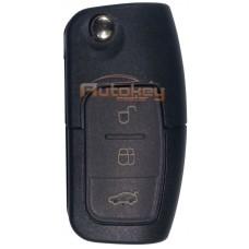 Выкидной ключ для Форд Фокус, Мондео, Галакси, С-Макс, Фиеста (Ford Focus, Mondeo, Galaxy, C-MAX, Fiesta) HU101 | ID 63-6F | 433MHz | 3 кнопки