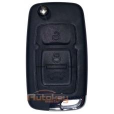 Выкидной ключ для Джили Эмгранд X7, ЕС7 (Geely Emgrand X7, EC7) | 2009-2019 | PCF 7936 | 433MHz Европа | 3 кнопки | Оригинал