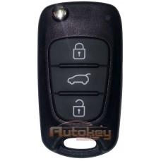 Выкидной ключ Хендай i30 (Hyundai i30) | 2008-2012 | HA-T005 | PCF 7936 | 433MHz Европа | 3 кнопки | Оригинал