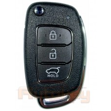 Выкидной ключ Хендай Крета (Hyundai Creta)   2016-2020   RKE-4F34   4D60X80   433MHz Европа   3 кнопки   Оригинал