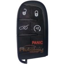 Смарт ключ для Джип Гранд Чероки WK ( Jeep Grand Cherokee WK) |  автозапуск | PCF7953 | KEYLESS GO | 433.92 | 5 кнопок | Оригинал