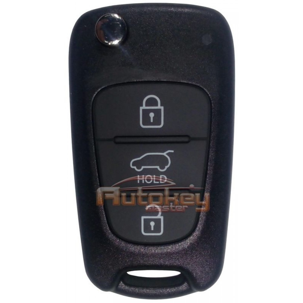 Выкидной ключ для Киа Спортейдж (Kia Sportage) | PCF7936 | 433MHz Европа | SEKS-AM08FTx | 3 кнопки | 06.2010 - 10.2013 | Оригинал