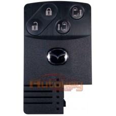 Смарт ключ карта для Мазда Премаси ( Mazda Premacy ) KeylessGo | 4 кнопки | 315MHz | Оригинал