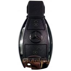"Ключ для Mercedes, Мерседес ""хромированная рыбка""  | FBS3 | 2 кнопки | 433MHz Европа | Запись через IR-порт"