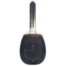 Ключ для Ниссан Алмера, Максима, Микра, X-Трейл, Примьера (Nissan Almera, Maxima, Micra, X-Trail, Primera) NSN14 | корпус | 2 резиновые кнопки