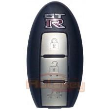 Интеллектуальный ключ для Ниссан GT-R (Intelligent key Nissan GT-R) | 2008- | pcf7952 | 3 кнопки | 433 Mhz | Оригинал