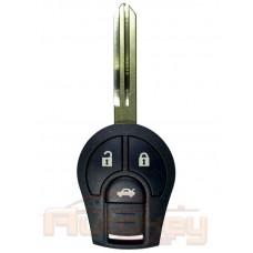 Ключ Ниссан Сентра (Nissan Sentra)   11.2013-2019   PCF 7936   NSN14   433MHz Европа   3 кнопки