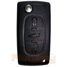 Выкидной ключ для Ситроен С4 Пикассо, С5 (Citroen C4 Picasso, C5) PCF7941(E33L61D)|3 кнопки | средняя кнопка багажник | 2007-2013 | Оригинал