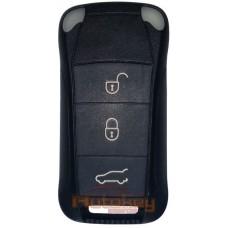 Выкидной ключ Порше Кайен (Porsche Cayenne) | 2007-2010 | 7L5959753BF | PCF 7946 | HU66 | 433MHz Европа | 3 кнопки | Оригинал