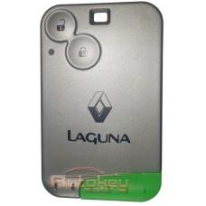 Ключ карта для Рено Лагуна II (Renault Laguna II) 2001-2008 | PCF4947 | 433MHZ | 2 кнопки