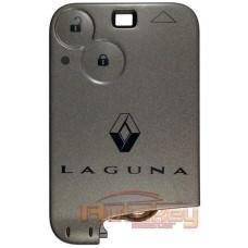 Ключ карта для Рено Лагуна II (Renault Laguna II) 2001-2008 | PCF7947 | 433MHZ | 2 кнопки | Оригинал