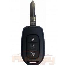 Ключ для Рено Дастер (Renault Duster) VAC102 | pcf7961M hitag AES | 3 кнопки | автозапуск | лого хром | 434mHz Европа | 2015- | Оригинал