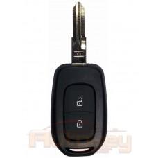 Ключ для Рено Дастер (Renault Duster) VAC102 | pcf7961M hitag AES | 2 кнопки | лого хром | 434mHz Европа | 2015- | Оригинал