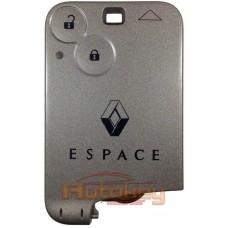 Ключ карта для Рено Эспас (Renault Espace) PCF7947 | 433MHz | 2 кнопки | Оригинал