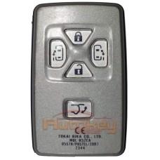 Смарт ключ для Тойота Альфард, Веллфайр, Превия, Тараго (Toyota Alphard, Vellfire, Previa, Tarago ) 5 кнопок | MDL B52EA | 434MHz Европа | 2010-2015 | Оригинал