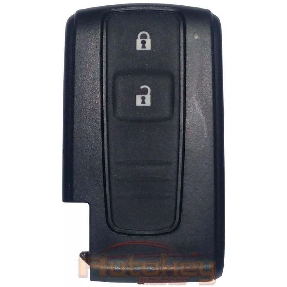 Смарт ключ для Тойота Королла Версо (Corolla Verso) 2 кнопки   MDL B23TA   ID 4D   433.92MHz   2004-2009   Оригинал
