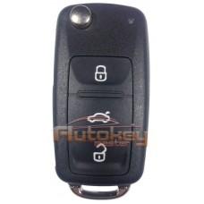Выкидной ключ для Фольксваген (Volkswagen) HU66 | ID 48 | 433mHz Европа | 3 кнопки | 5K0 837 202 AD | Оригинал