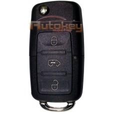 Выкидной ключ для Фольксваген Крафтер (Volkswagen Crafter) 2006- | 2E0959753A | HU64 | 3 кнопки | 433,92MHz | Оригинал