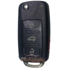 Выкидной ключ Фольксваген Туарег, Фаетон (Volkswagen Touareg, Phaeton) | 2003-2009 | HU66 | PCF 7946 | 315MHz Америка | 4 кнопки