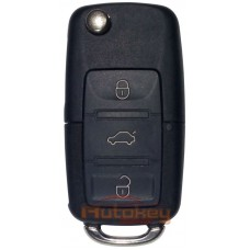 Выкидной ключ для Фольксваген Гольф, Бора, Поло, Т5, Пассат, Нью Битл (Volkswagen Golf, Bora, Polo, T5, Passat, New Beetle) HU66 | ID 48 | 433MHz | 3 кнопки | 1J0 959 753 AH | 1999-2009 | Оригинал